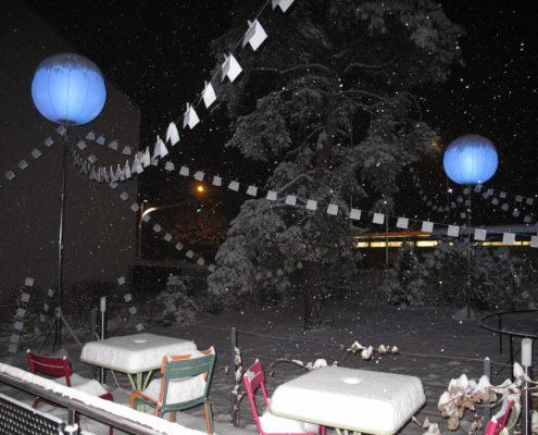 Ballon Lumineux - Sous la neige