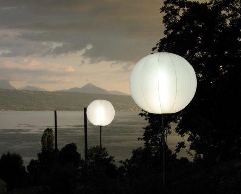 Ballon Lumineux - Dans le vignoble