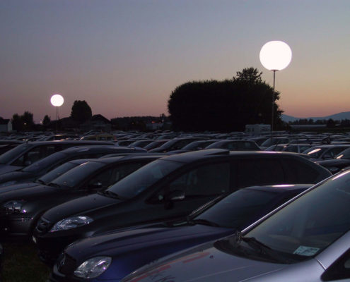 Ballon Lumineux - Éclairage d'un parking
