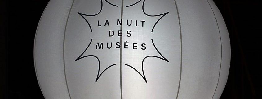 Ballon lumineux nuit des musées
